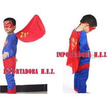 Disfraz Superman Ropa Carnaval Niño Nuevo