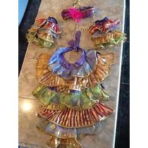 Disfraz De Rumbera - Talla 2 - Con Todos Los Accesorios