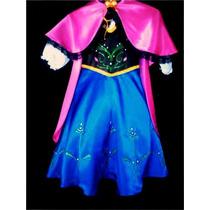 Hermoso Disfraz De Anna De Frozen