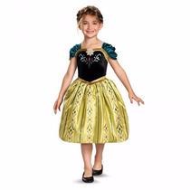 Disfraz Para Niñas Frozen, Anna Coronación, Importado