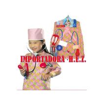 Disfraz Doctor Niño O Niña Nuevo Ropa Carnaval De 3 A 8 Año