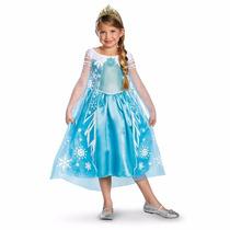 Disfraz De Elsa Frozen Prestige Para Niña, Importado