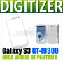 Mica Vidrio De Pantalla Touch Samsung Galaxy S3 I9300 Blanca