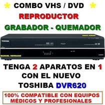 Dvd/vhs Reproductor-quemador-grabador Toshiba Dvr620 Hdmi