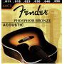 Set De Cuerdas Fender Para Guitarr Electro-acustica 011 60cl