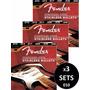 3 Sets De Cuerdas Fender Para Guitarra Electrica 010