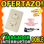 Wow Interruptor Apagador Doble Color Blanco Switch