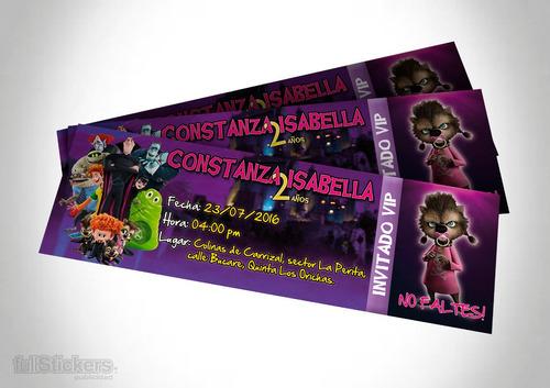 Entradas, Tickets, Invitaciones. Personalizadas Para Eventos