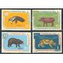 Estampillas Ecuador Serie 4 Valores De 1960 Fauna