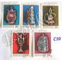 C10 Estampillas Mongolia 5 Artesanias Metales Folklore