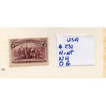 Usa 1893 Scott# 231 Nueva-sin Marcas De Charnela-goma Origin