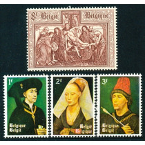 Estampillas De Bélgica 2 Series, 4 Valores De 1964 Pintura