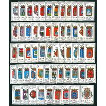 57 Estampillas De España Juego Completo De Escudos 1962 - 66