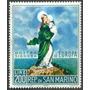 Estampilla De San Marino 1 Valor De 1966 - Vírgen De Europa