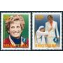 Estampillas Albania Serie De 2 Valores 1998 Princesa Diana