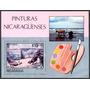 Estampilla Nicaragua Hoja De Recuerdo 1982 Pintura 1982