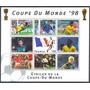 Estampilla Centroafricana Serie 8 Valores 1997 Mundial 1998