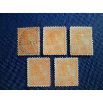 Combo Estampillas (escuelas) 25 Céntimos 1887, 12 Perf.