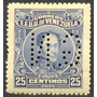 Estampilla Venezuela 25 Ctms 1924-8 Bolívar Oficial Gn Nueva