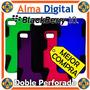 Forro Doble Perforado Blackberry Z10 Plastico Silicon Celula
