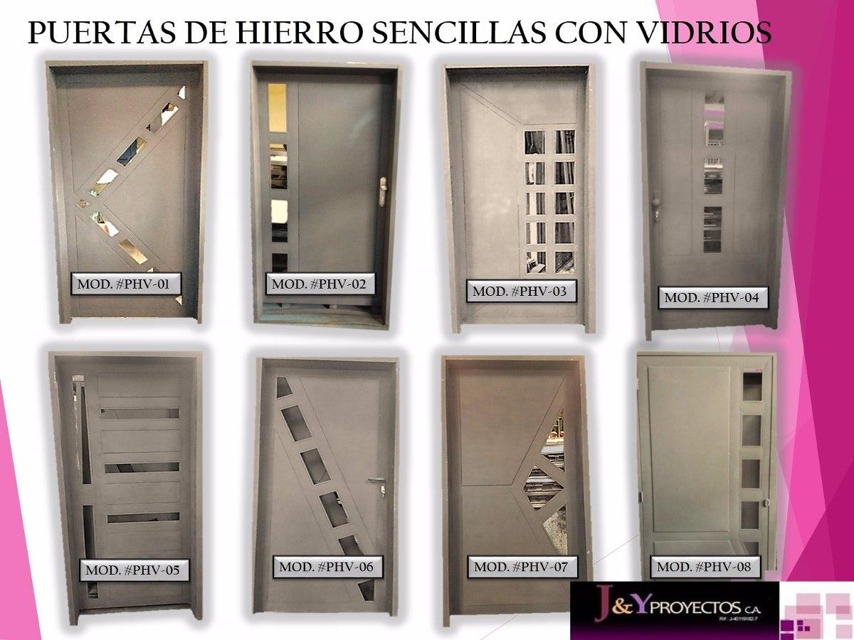 Modelos de puertas de hierro puerta de garaje modelo for Modelos de puertas de hierro con vidrio