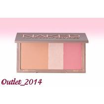 Paleta Tres En 1 Naked, Blush,iluminador Y Bronceado