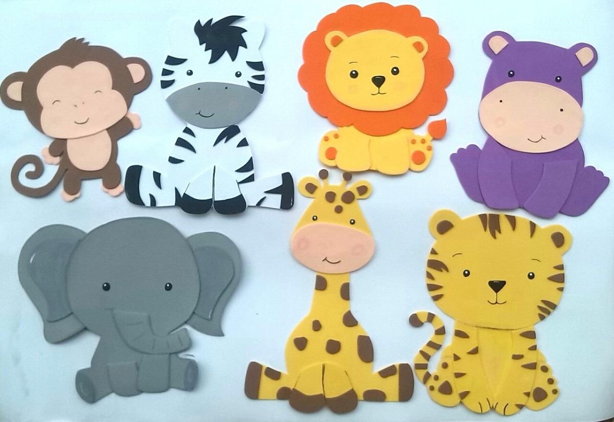 Animales de la selva en foami - Imagui