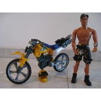Muñeco Max Steel Con Su Moto Original (último Disponible)