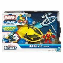 Rescue Jet Wolverine & Iron Man Y Mud Stormin Hulk & Silver