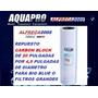 Cartucho Carbon Block De 20 Repuesto Osmosis Filtros De Agua