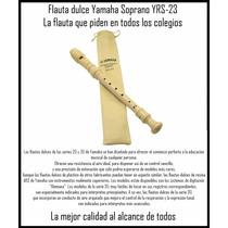 Flauta Yamaha Yrs D Alemana Buen Sonido Importada + Obsequio