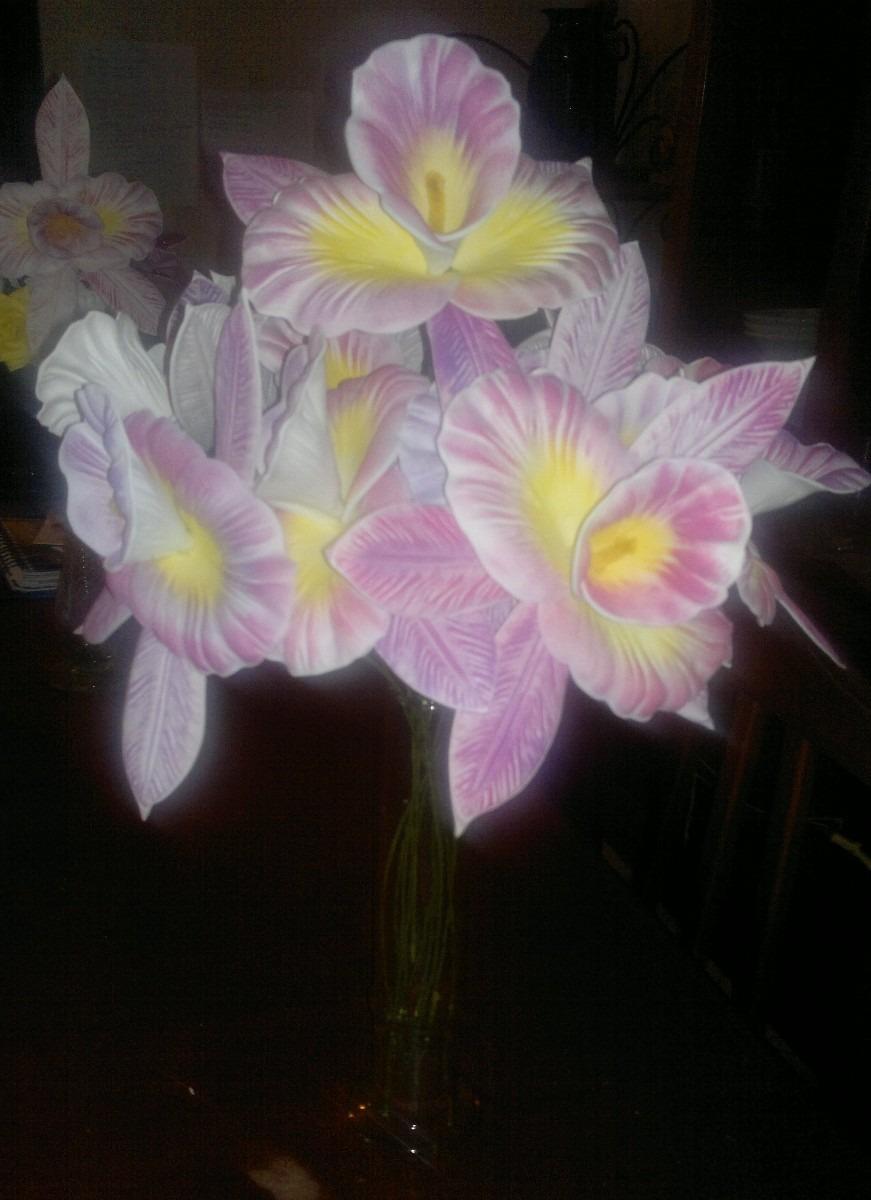 Flores Orquideas En Foami Termo Formado Medianas - BsF 60,00 en ...