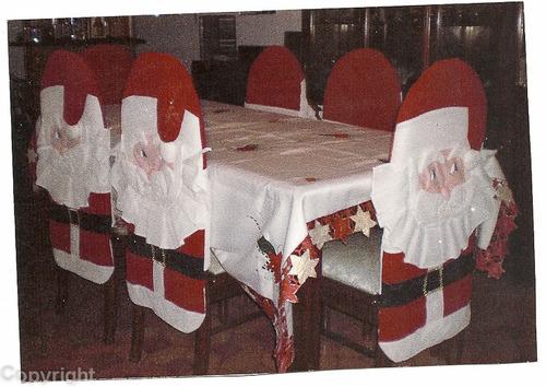 Forros para sillas de comedor de navidad imagui for Cosas del comedor