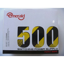 Fuente De Poder Emerald 500w 24 Pines Garantizada Atx C/caja