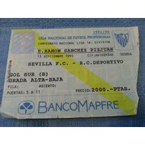 Entrada Del Debut Diego Maradona En Estadio De Sevilla F.c