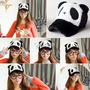 Gorras Oso Panda Grusas Con Efecto Peluche