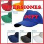 Gorras Unicolores Acrílicas Para Bordar Publicidad