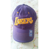 Gorra Adidas De Los Angeles Lakers Morada Talla S-m Original