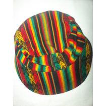 Gorras Con Visera En Tela Rasta, Rastafari. Hechas En Perú