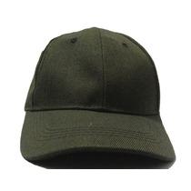Gorra Verde Oscuro Para Bordar Unicolor Con Broche Caiman
