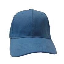 Gorra Azul Para Bordar Unicolor Con Broche Caiman Metalico