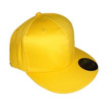 Gorras Planas Flex Color Amarillo Cerradas Unicolor