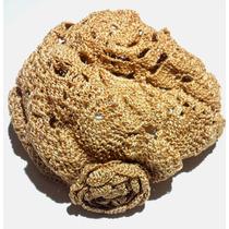 Boina Gorro Tejido A Crochet Color Beige