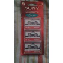 Microcassette Marca Sony 3mc-60