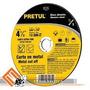 Disco Corte Metal Ultrafino 41/2 X1/16 X7/8 Pretul Tipo Cd