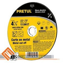 Disco Corte Metal Ultrafino 41/2 X1/16 X7/8 Pretul Tipo Cd