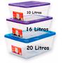 Caja Plastica Click Alfa 20 Litros Multiusos Organizadora