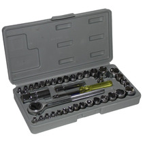 Ratchet 40 Piezas 1/4 Con Extencion 3/8 Diesel Tools