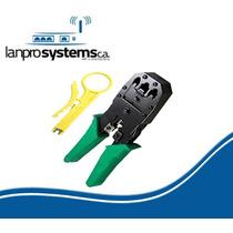 Crimpeadora Para Rj-45 Rj-11 Rj-9 + Pela Cable 100% Calidad