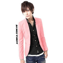 Blazer Fashion Slim Fit Fresh Pink Caballero Ainka